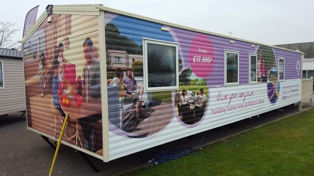 Caravan being wrapped by Fantasy Prints