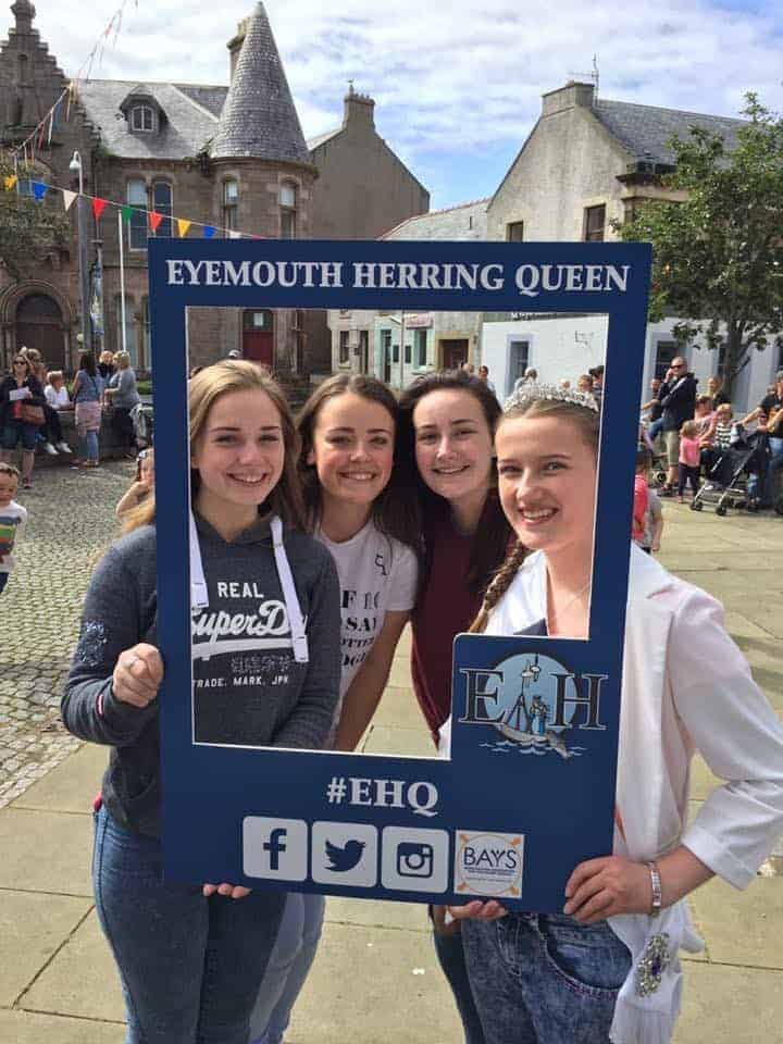 Eyemouth Herring Queen Selfie Frames