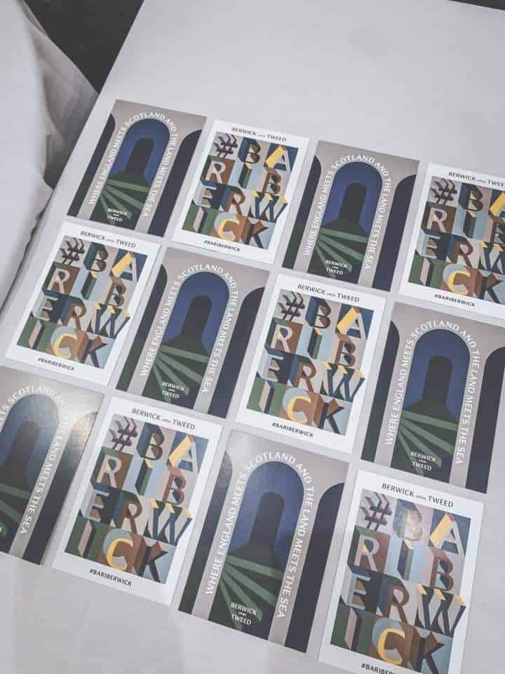 Printed postcards for Berwick Community Trust