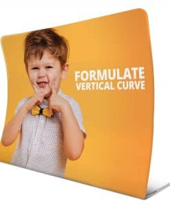 Formulate Vertical Curve Fabric Exhibition Stand