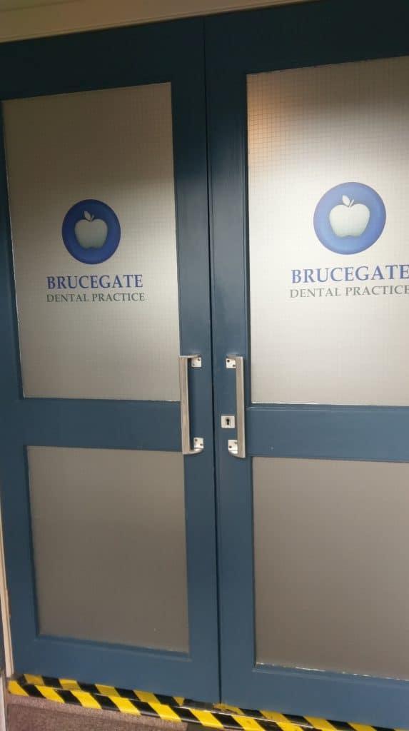 Brucegate Dental Practice Etched Vinyl