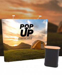 Exhibition Pop Up Stand Straight (Single-Sided)