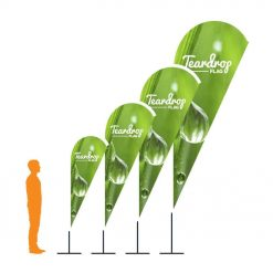 Teardrop Flag Banners Printing with poles & carry case