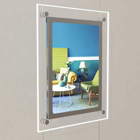 LED Single Pocket Portrait Estate Agent Window System