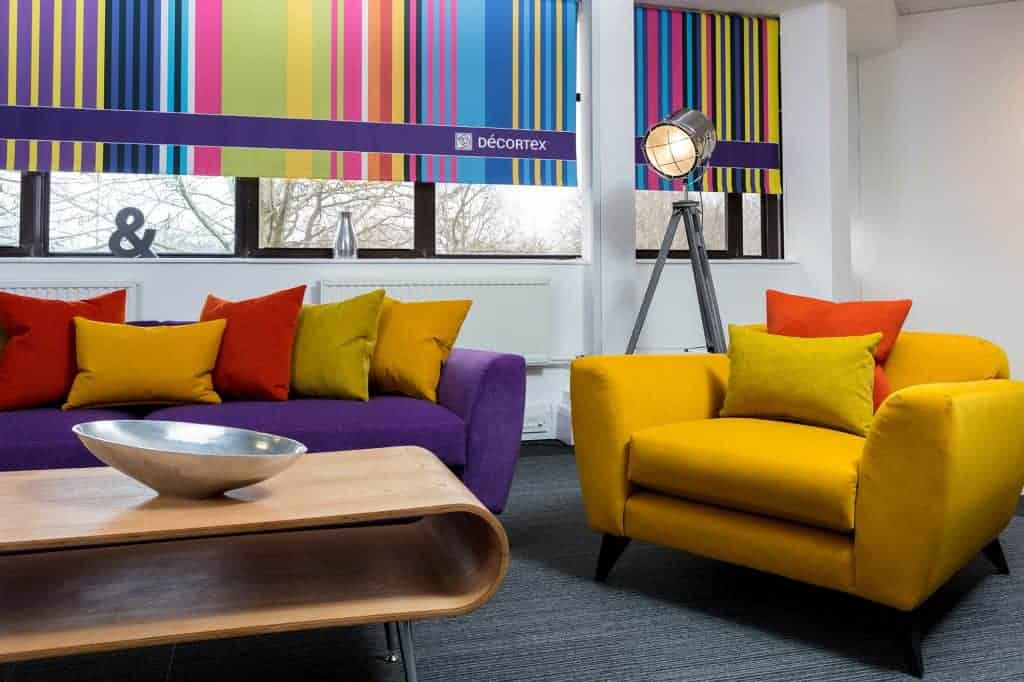 Customised Printed Blinds using Decortex Material