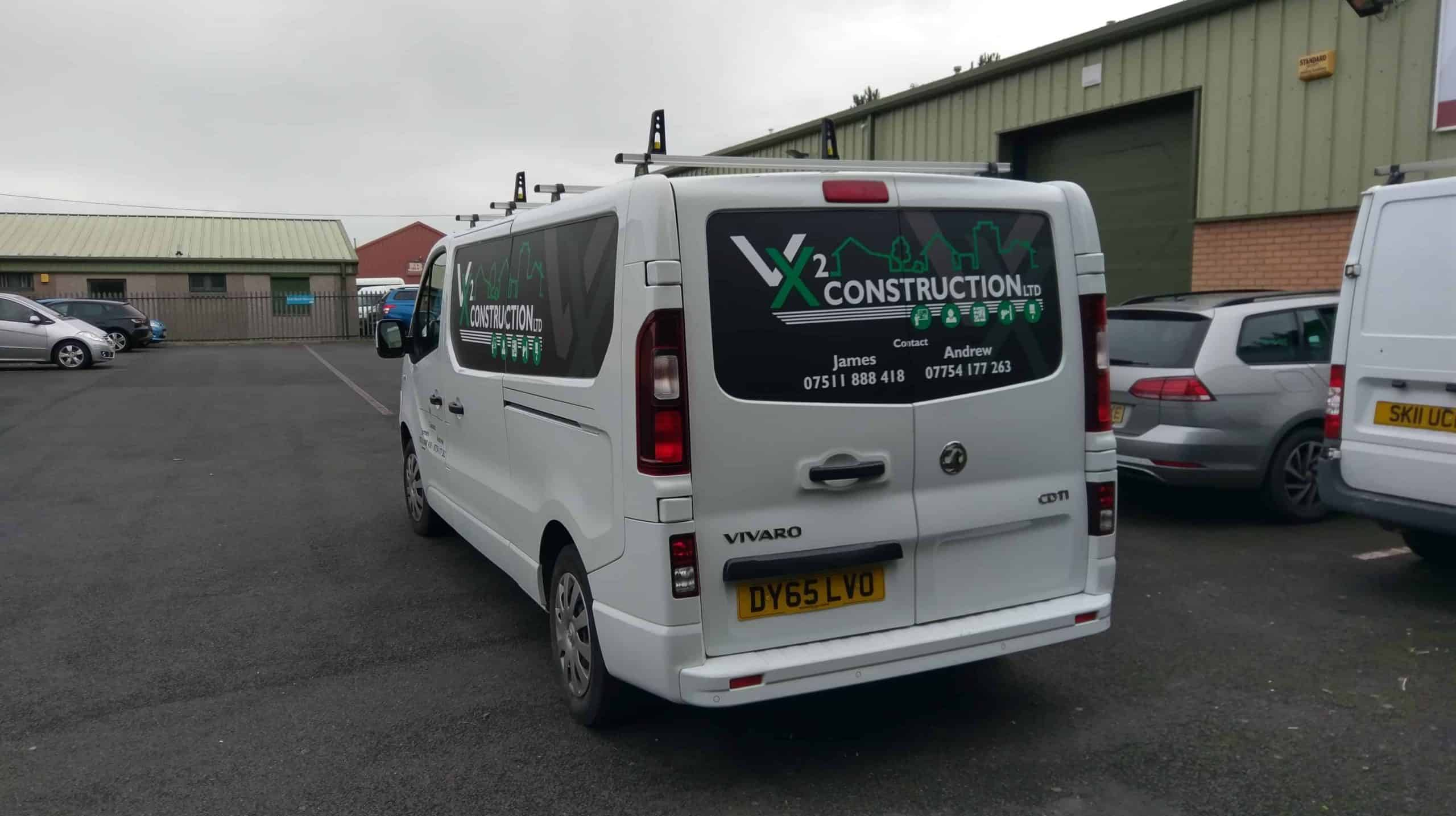 VX2 Construction New Van Livery