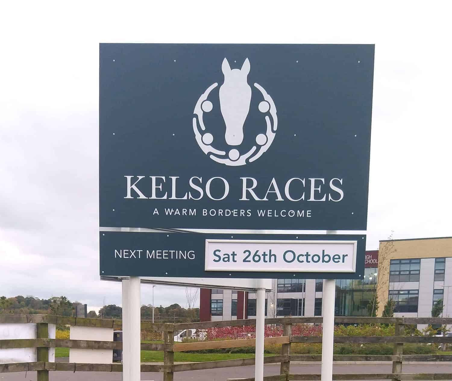 Kelso Racecourse New Pole Post Signs
