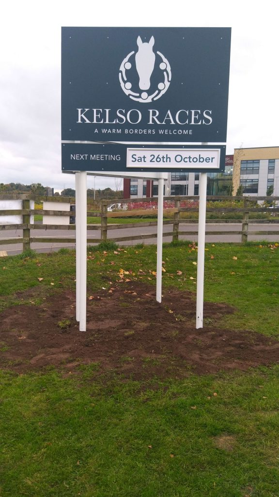 Kelso Racecourse New Pole & Post Signs