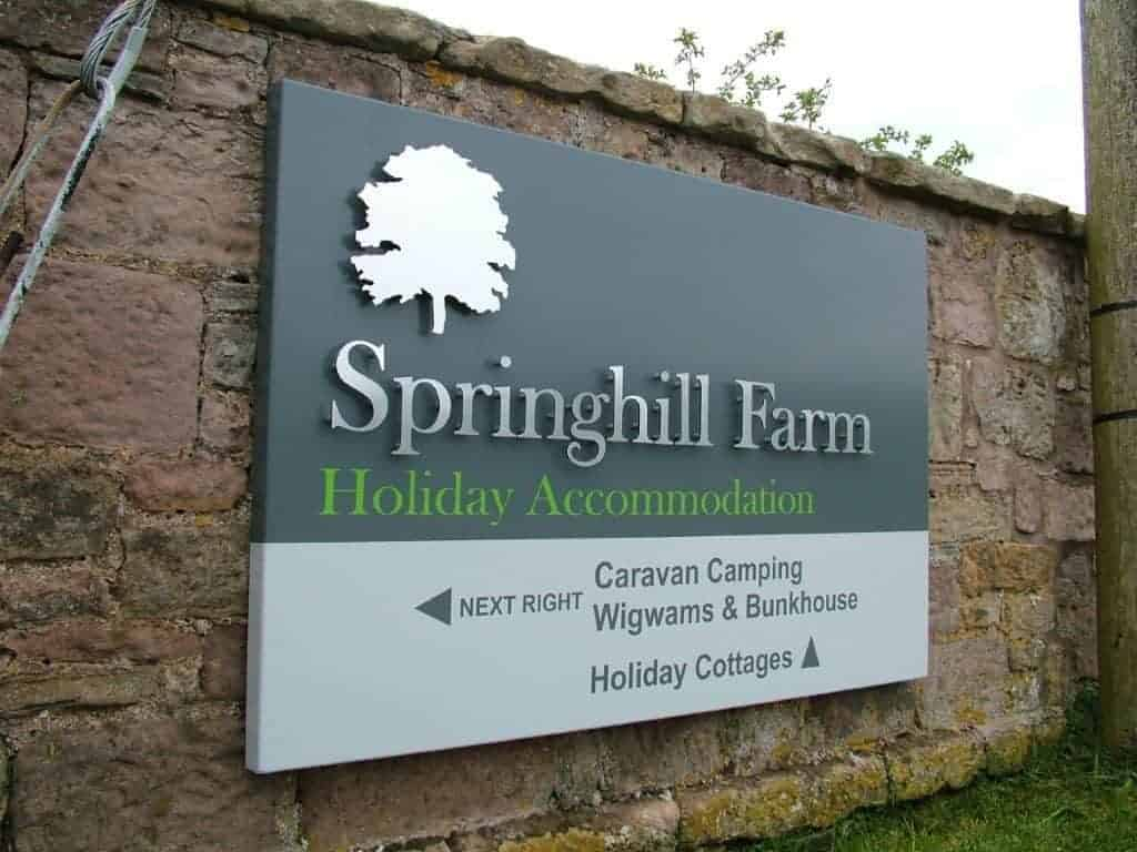Springhill Farm Fasica Sign manufactured by Fantasy Prints