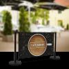 Economy Cafe Barrier 1500mm Kit