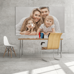 Personal Canvas Print of Family Photo printed on Canvas and Stretched on Wooden Bars