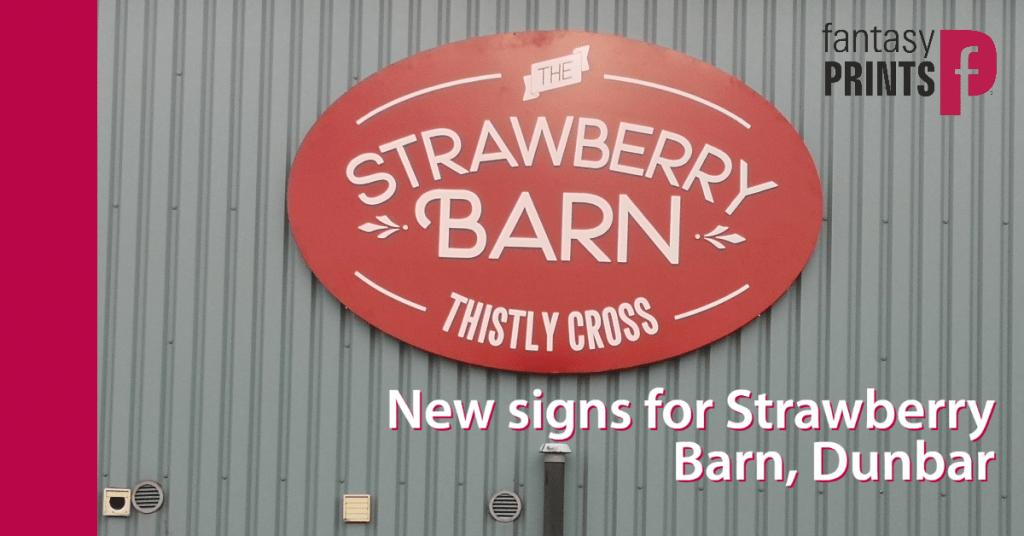 Strawberry Barn Signs