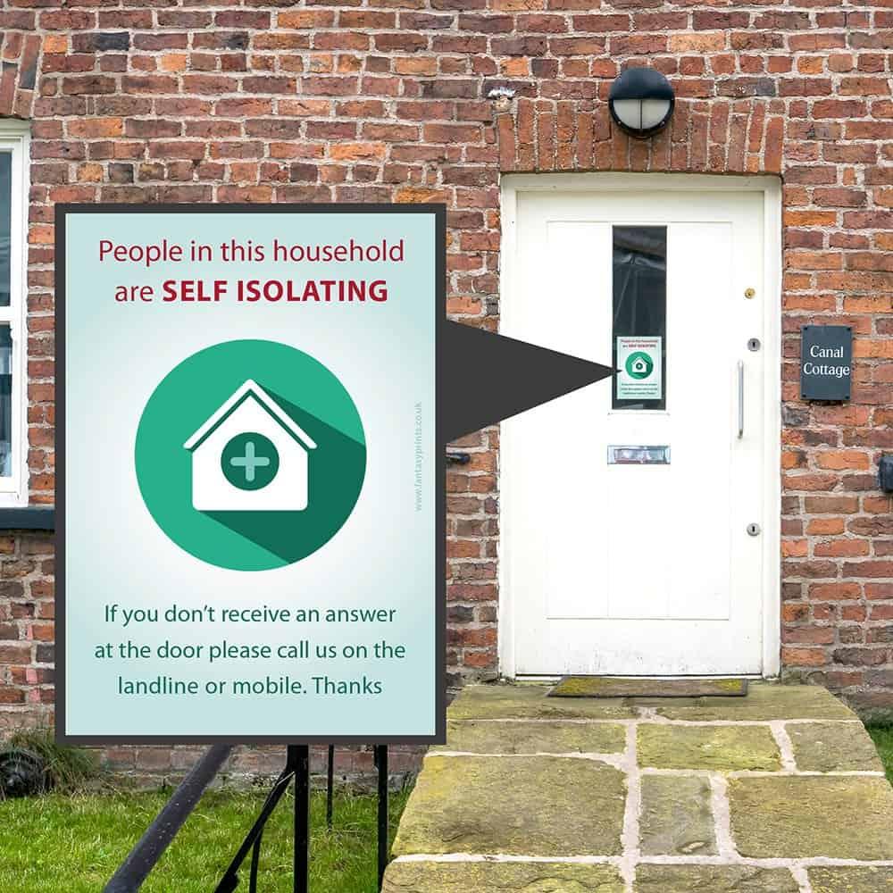 Self Isolation Window Sticker Green Version
