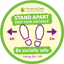 Social Distancing Floor Stickers – Branded