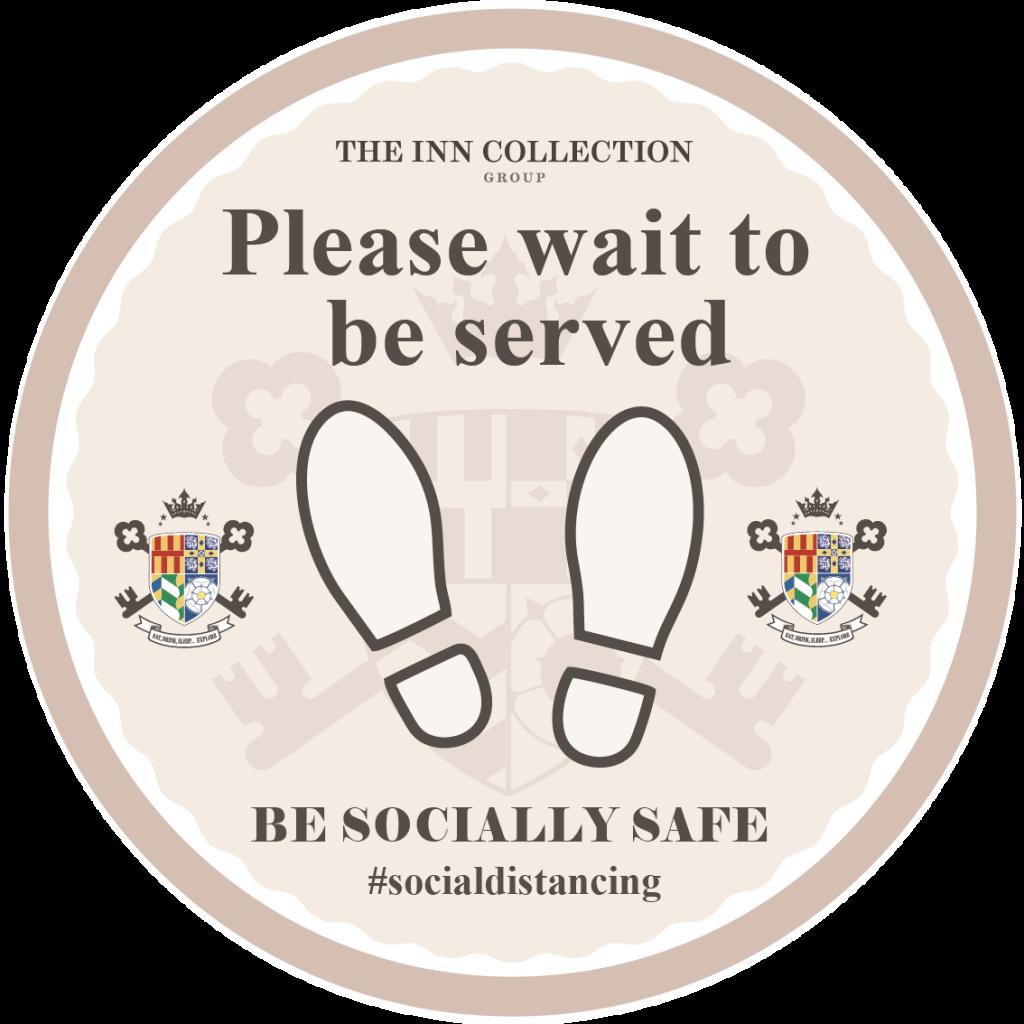 Social Distancing Floor Sticker - Branded