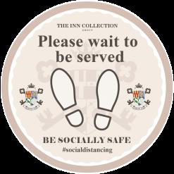 Social Distancing Outdoors Floor Stickers – Branded